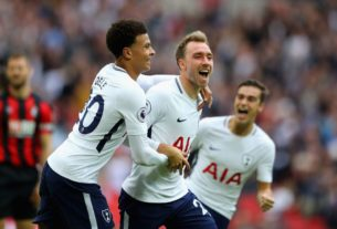 Spurs midfielder Christian Eriksen