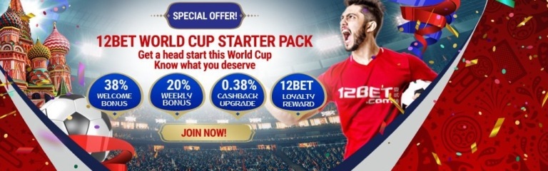 12BET World Cup Starter Pack Banner